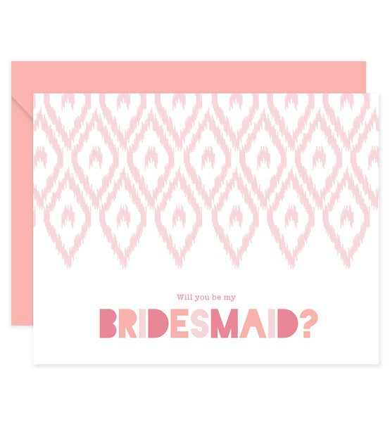 Bridesmaid Proposal Card with Envelopes