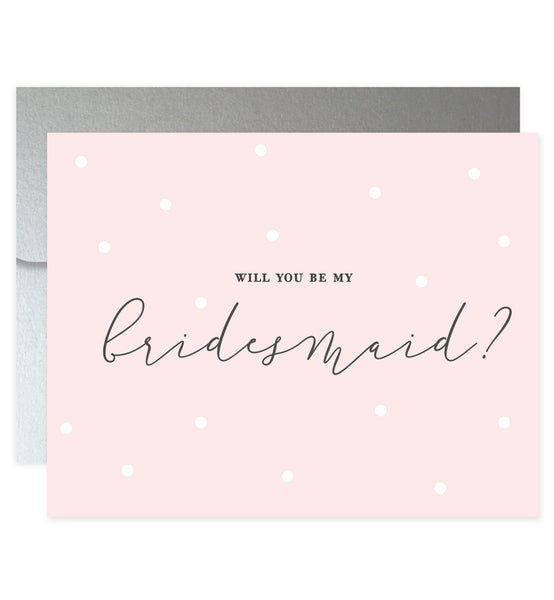 Will You Be My Bridesmaid? Blush Pink Card | Ellie