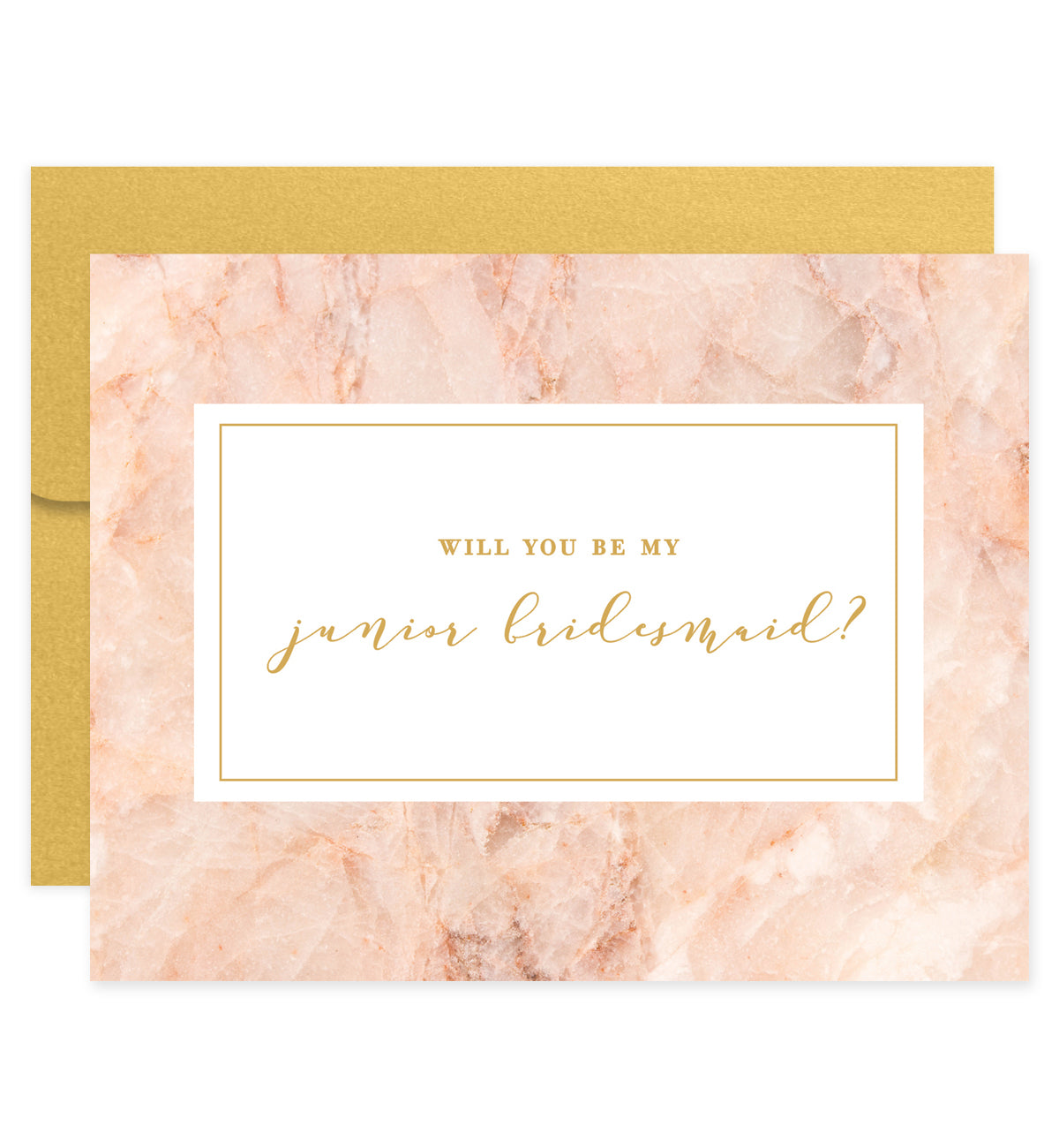 Will You Be My Bridesmaid? Pink + Gold Card | Fiona