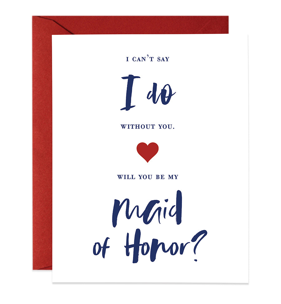 Will You Be My Maid of Honor? Proposal Card