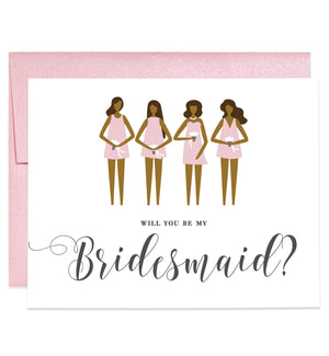 Will You Be My Bridesmaid? Rose Pink Dark Skin | Tori