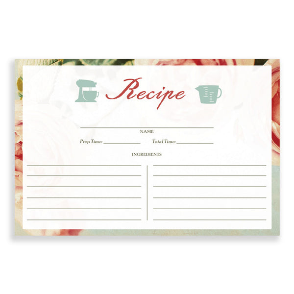 Floral Recipe Cards |  Caitlin