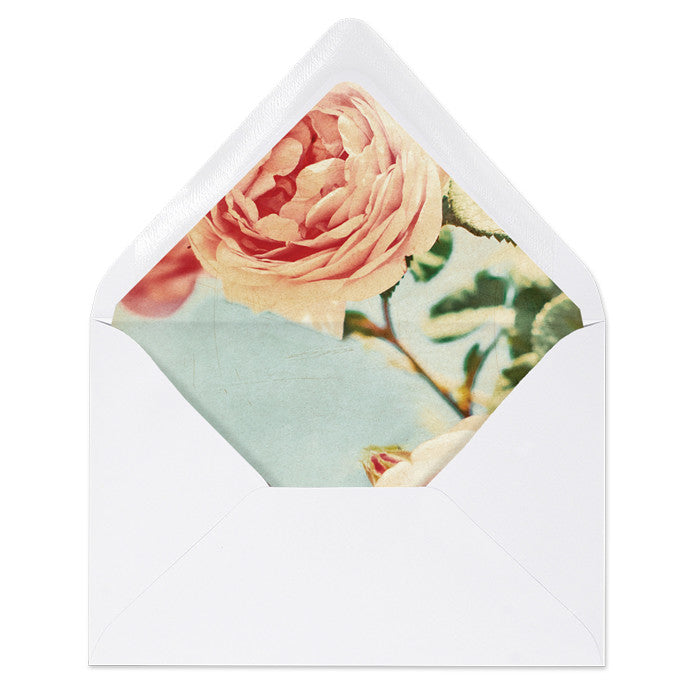 """Caitlin"" Vintage Peony Envelope Liners"