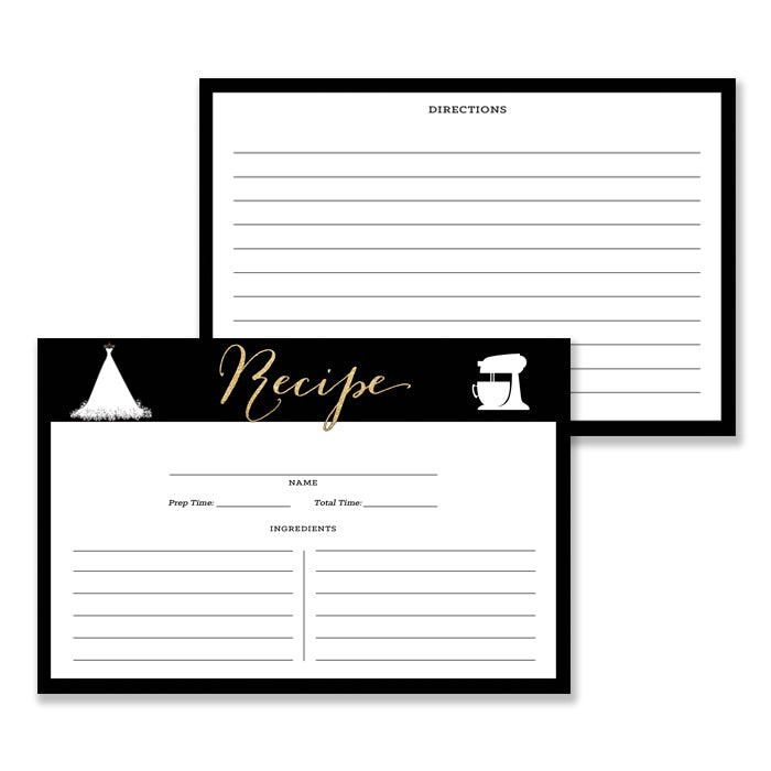 """Carly"" Black + Gold Bridal Shower Invitation"