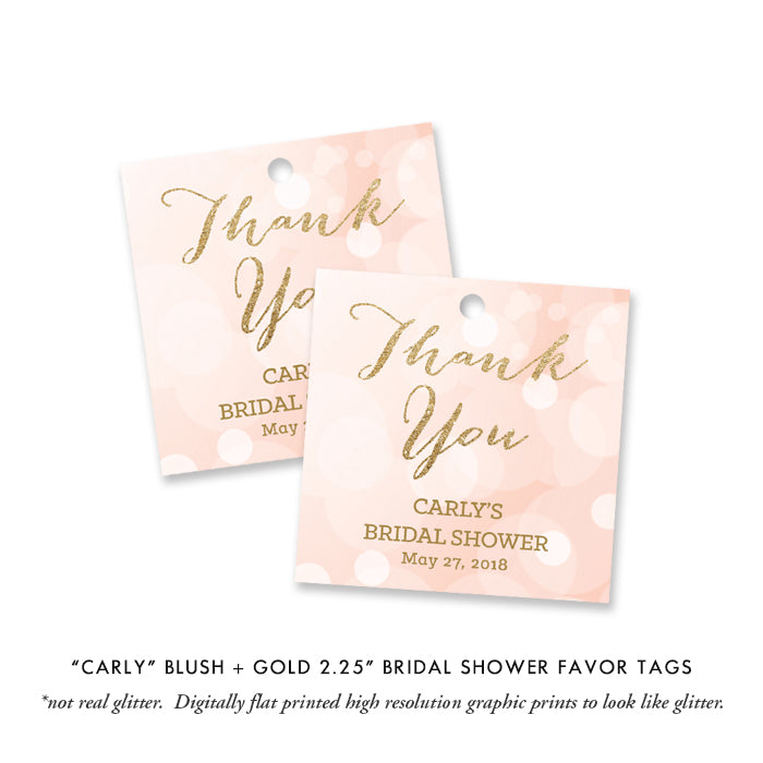 """Carly"" Pink Bokeh Bridal Shower Invitation"