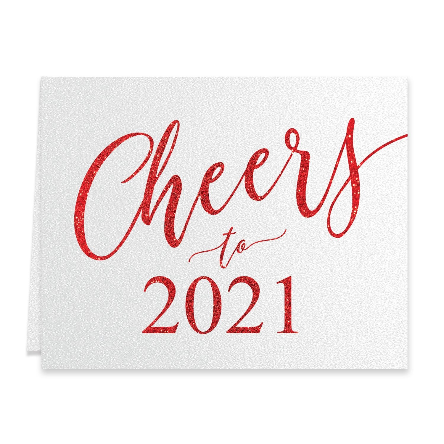 Cheers to 2021 New Years Greeting Card - Digibuddha