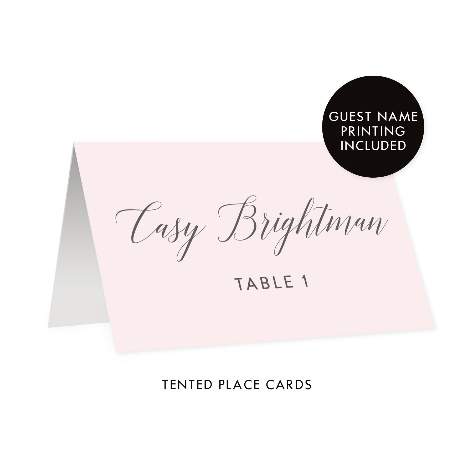 Blush Pink Place Cards | Casy