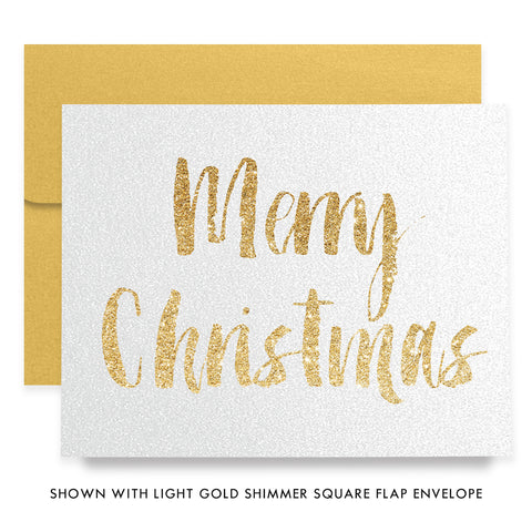 Gold Merry Christmas Boxed Holiday Cards | Clark