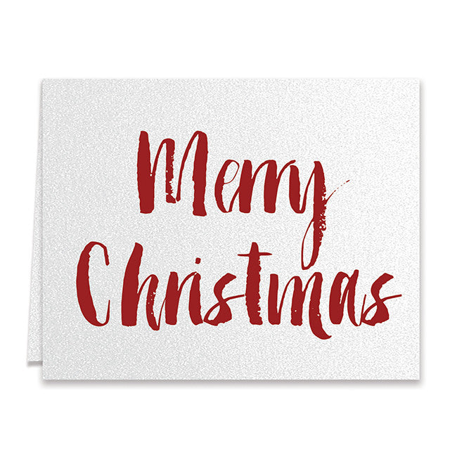 Red Merry Christmas Boxed Holiday Cards | Clark