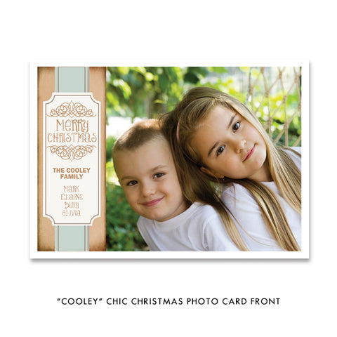 Chic Photo Holiday Card | Cooley