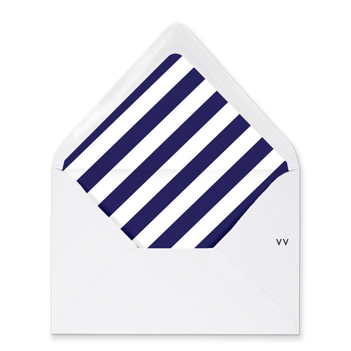 """Courtney"" Navy Stripe Envelope Liners"