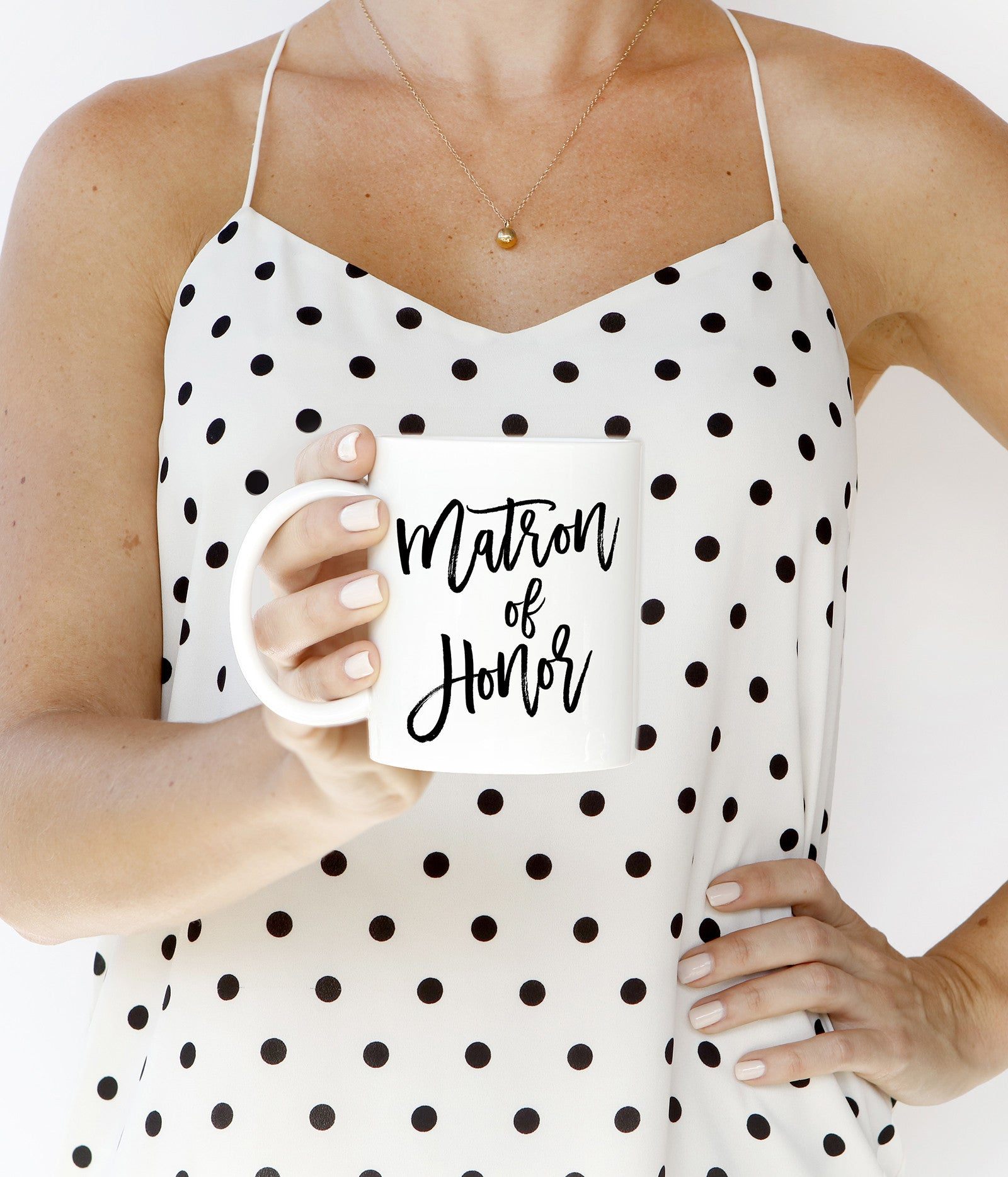 Black Lettering Matron of Honor Mug