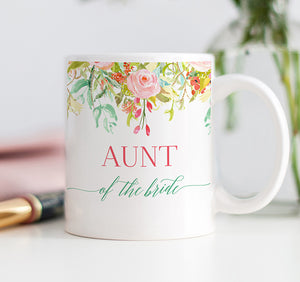 Floral Aunt of the Bride Mug