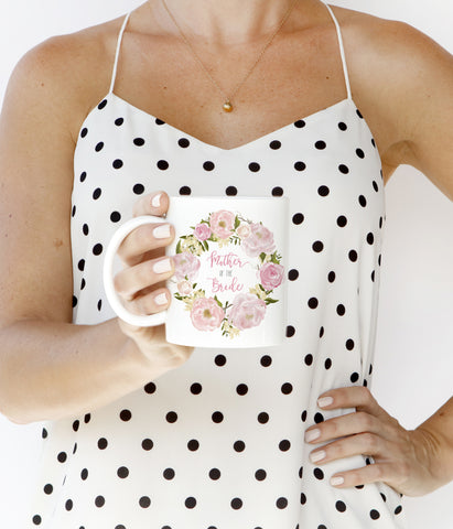 Pink Peonies Mother of the Bride Mug