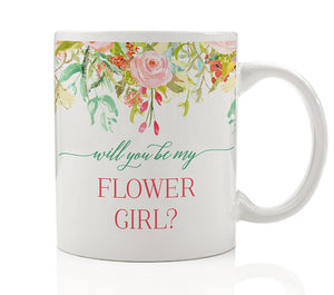 Floral Flower Girl Proposal Mug