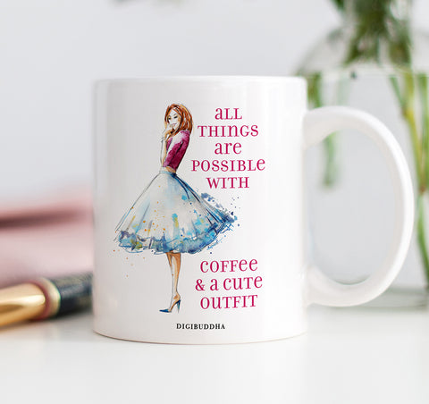 Coffee & A Cute Outfit Mug