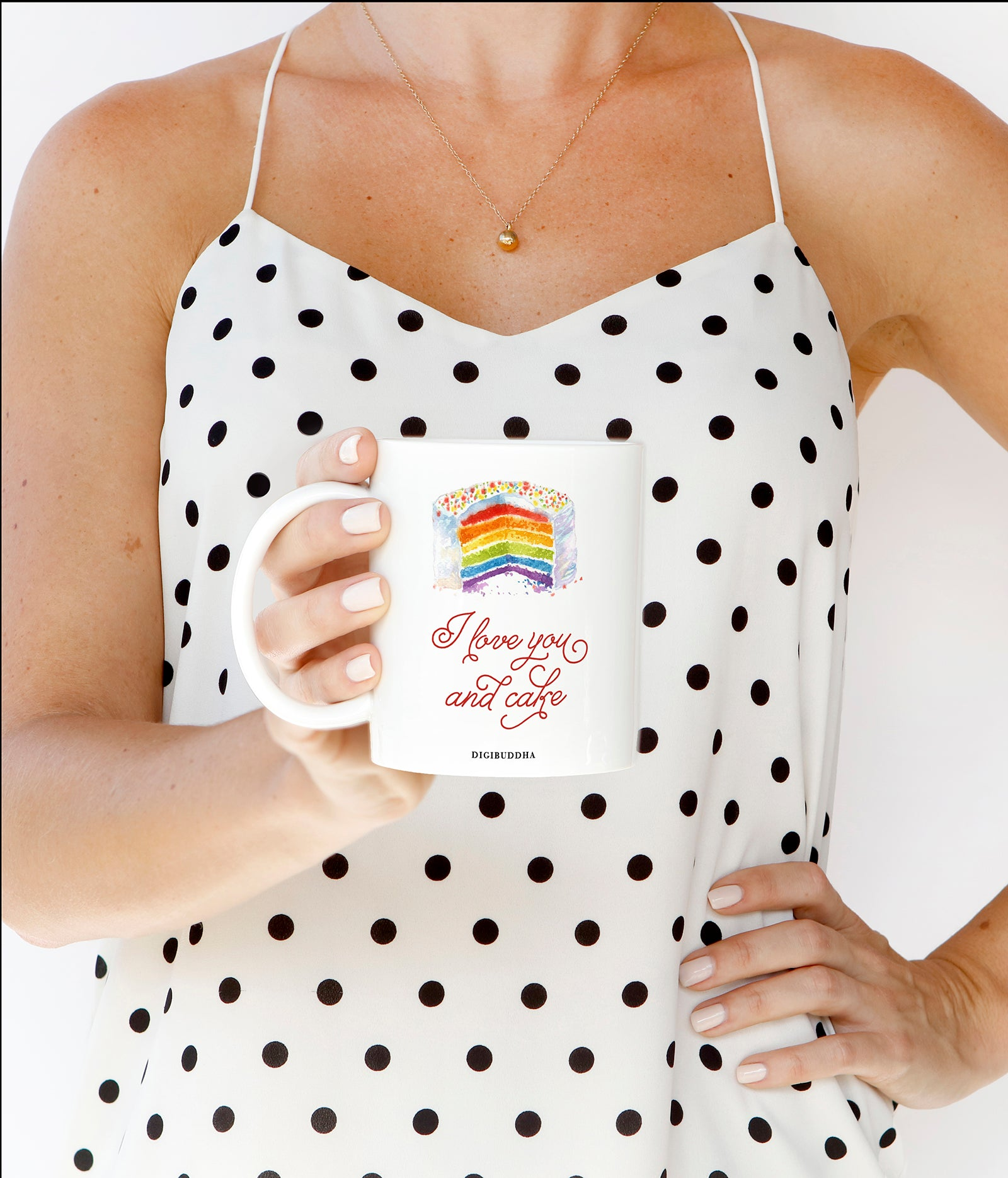 Rainbow I Love You And Cake Mug