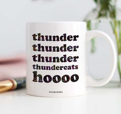 Neon Speckled Thunder Cats Mug