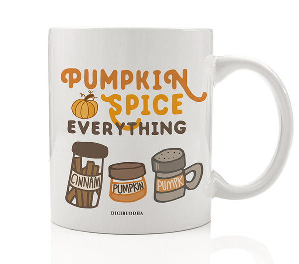 Pumpkin Spice Ingredients Mug