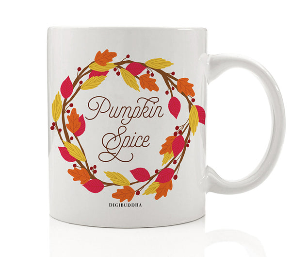 Autumn Leaves Wreath Mug