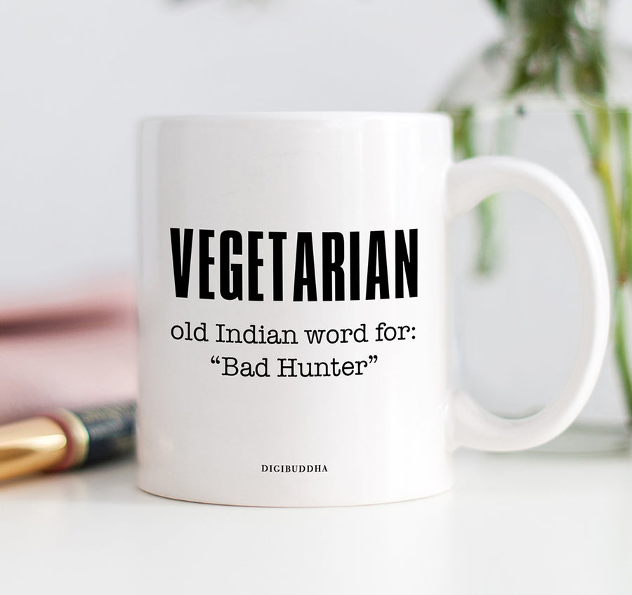 Vegetarian 'Bad Hunter' Mug
