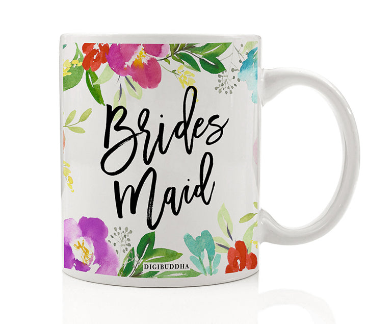 Pretty Floral Bridesmaid Mug