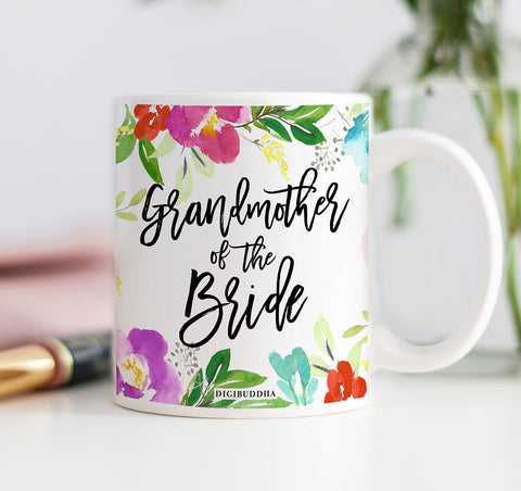 Pretty Floral Grandmother of the Bride Mug