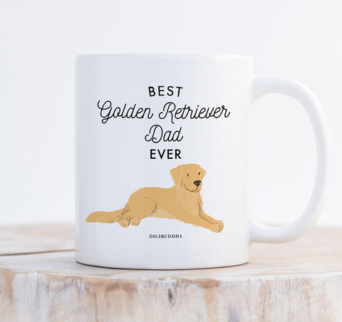 Best Golden Retriever Dad Ever Mug