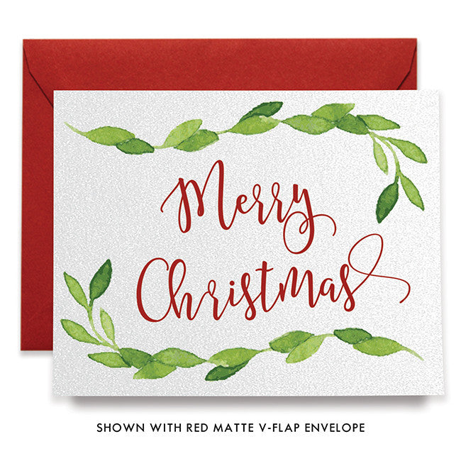 Merry Christmas Vines Boxed Holiday Cards | Davis