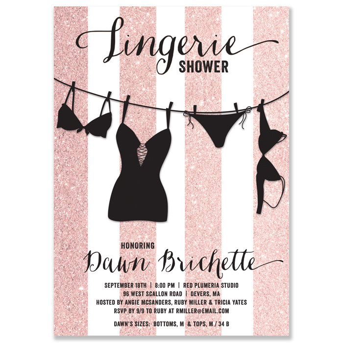 beautiful lingerie party invitation for 78