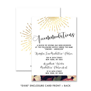 """Dixie"" Floral Wedding Invitation"