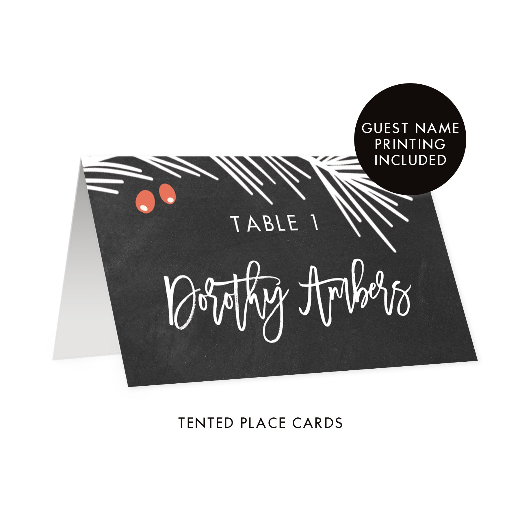 Chalkboard Holiday Place Cards | Dorothy