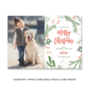 Merry Christmas Photo Holiday Card | Dorothy