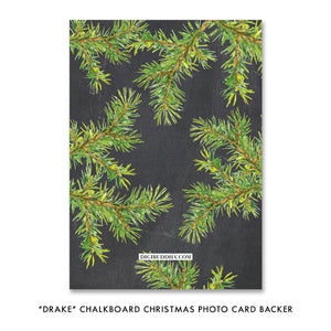 Peace Branches Chalk Photo Holiday Card | Drake