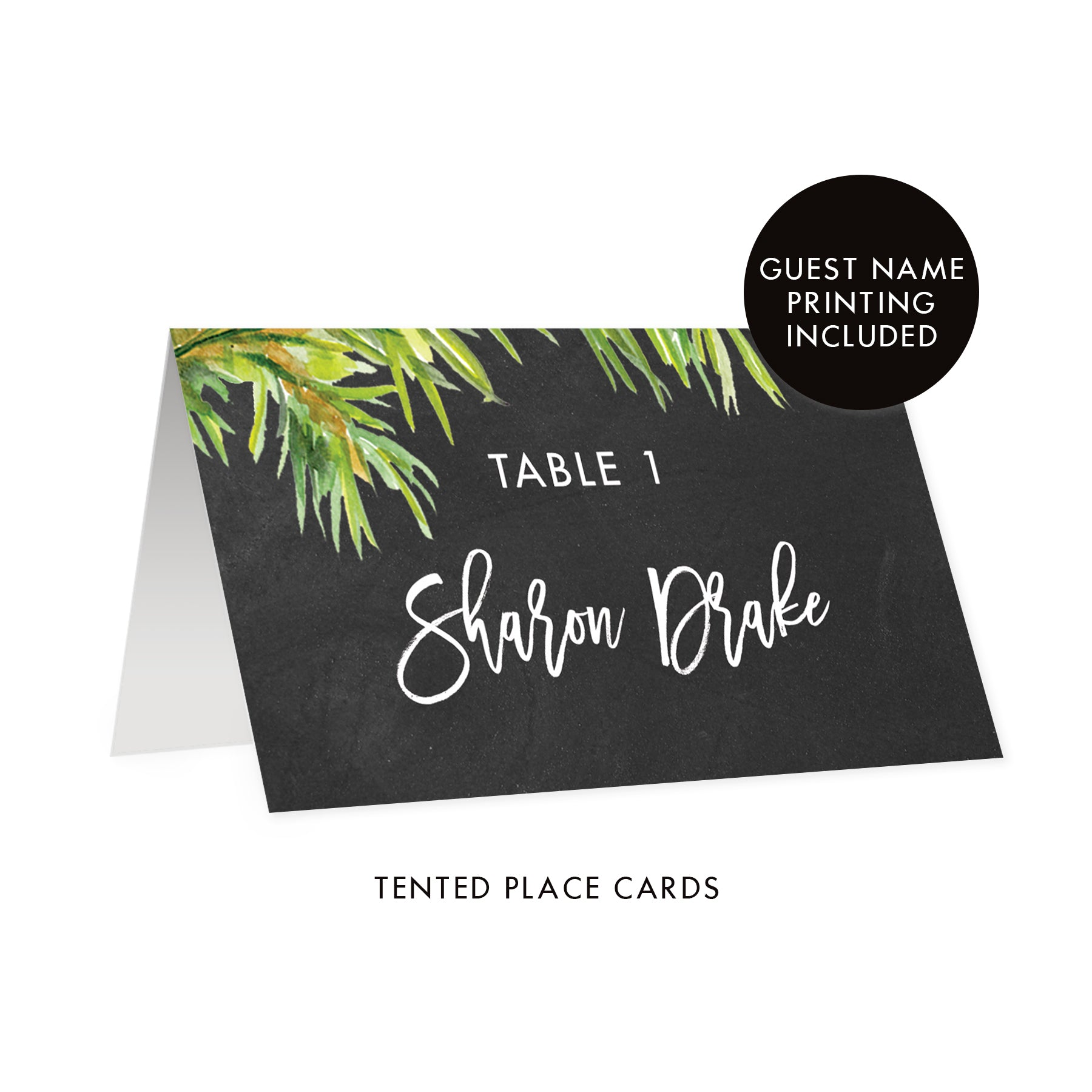 Chalkboard Holiday Place Cards | Drake