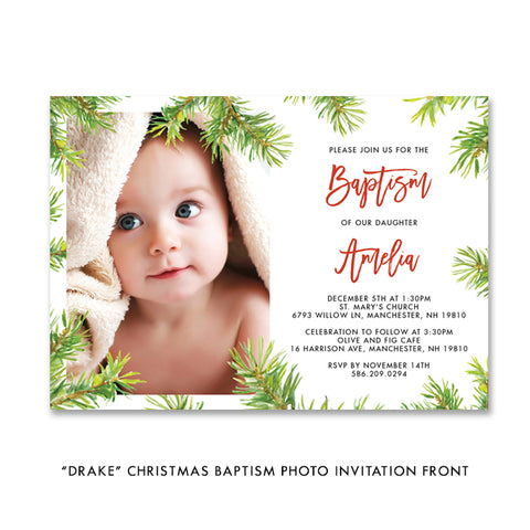 Baptism Holiday Card