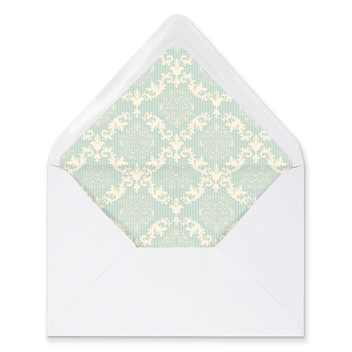 """Dylan"" Blue Damask Envelope Liners"