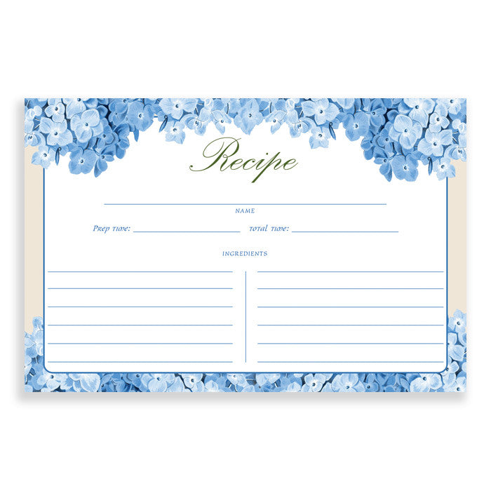 Floral Recipe Cards |  Elaina