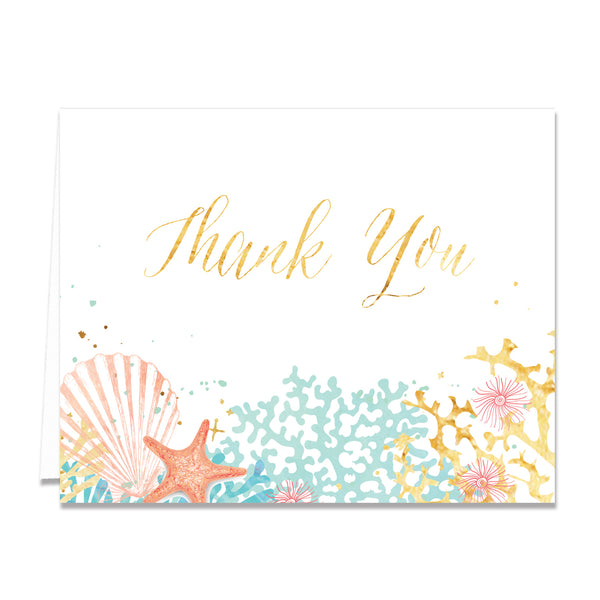 """Elena"" Beach Thank You Card"