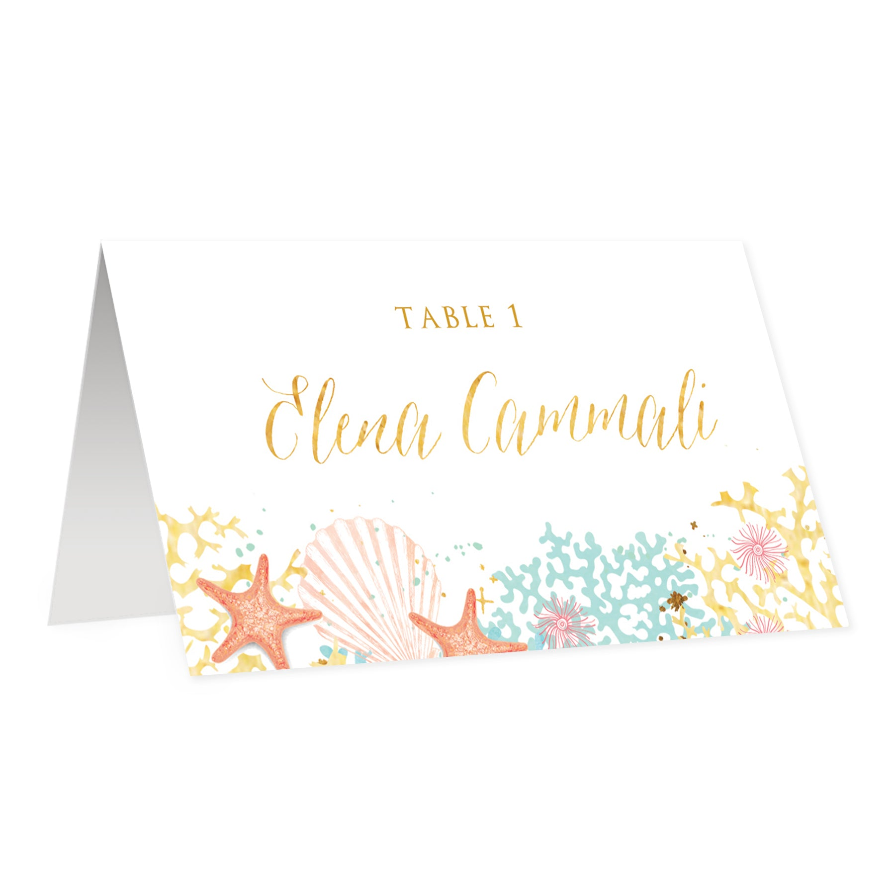 Beach Themed Place Cards | Elena