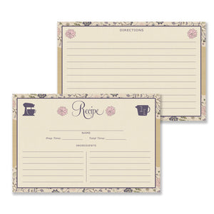 Floral Recipe Cards |  Erin