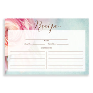 Floral Recipe Cards |  Evelyn Pink Peony