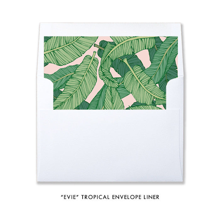 """Evie"" Tropical Wedding Invitation"