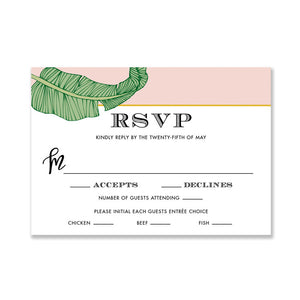 """Evie"" Tropical RSVP Card"
