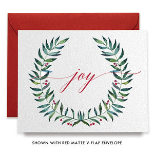 Joy Wreath Boxed Holiday Cards | Ewing