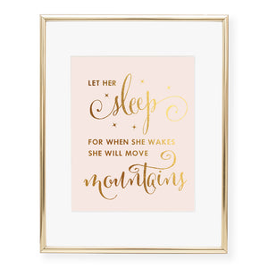 Let Her Sleep Foil Art Print