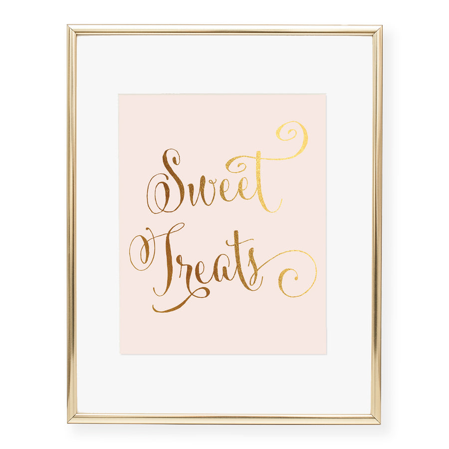 Sweet Treats Foil Art Print