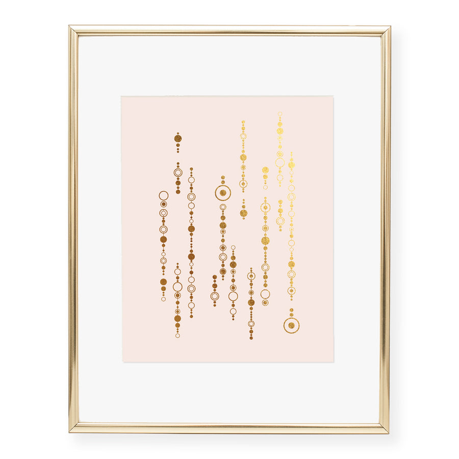 Strings of Circles Foil Art Print