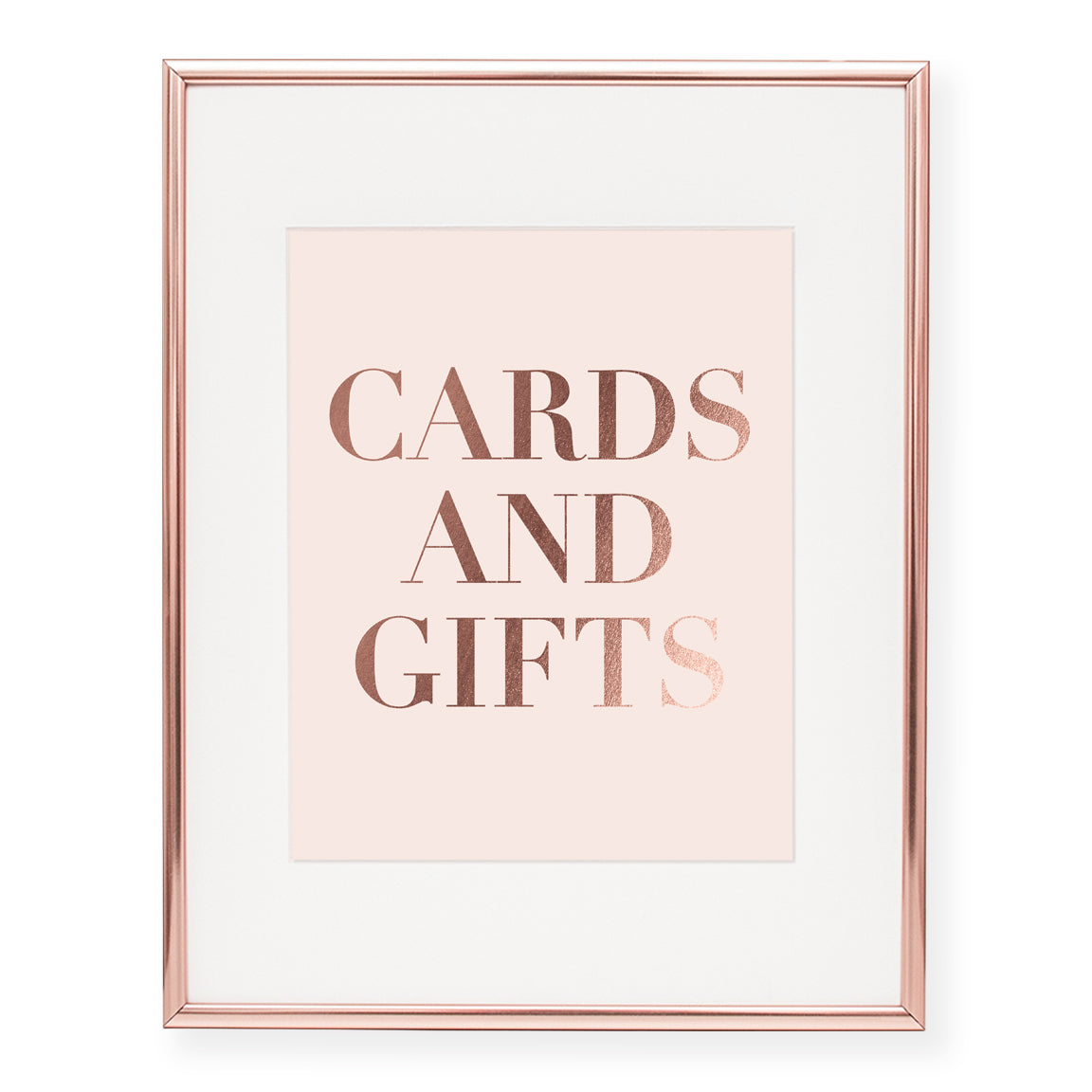 Cards + Gifts Foil Art Print, style 2