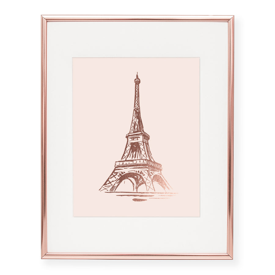 Eiffel Tower Foil Art Print